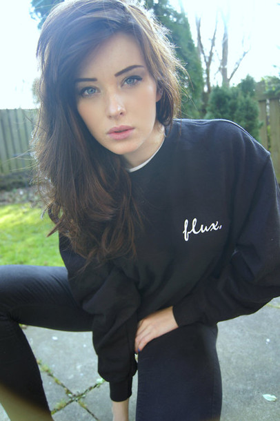 Sweater: black, with, hipster, skater, skaterstyle, tumblr ...