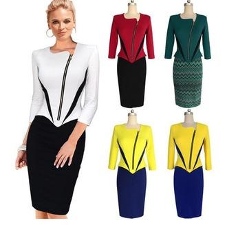 dress zipper dress pencil dress