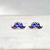 NEW Moustache Earrings, Galaxy Earrings, Modern Fashion Handmade Jewelry on Luulla
