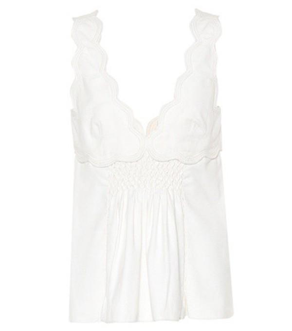 Isabel Marant Wigston sleeveless cotton top in white
