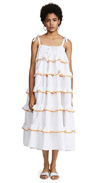 dress layered white