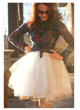 shirt skirt tulle skirt