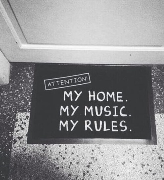 home accessory doormat black white music home decor cool