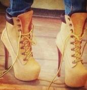 shoes,style,high heels,timberlands high heels