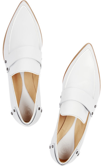 McQ Alexander McQueen | Grace leather point-toe flats | NET-A-PORTER.COM