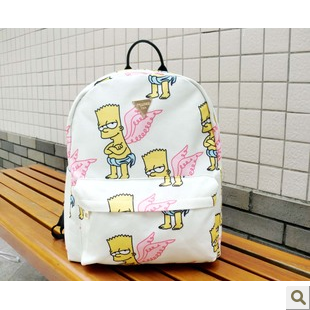 Simpson backpack female preppy style laptop bag for middle school students school bag female canvas backpack-inBackpacks from Luggage & Bags on Aliexpress.com