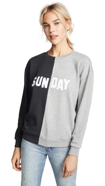 sweatshirt smoke black grey heather grey sweater