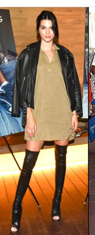 shoes kendall jenner kendall and kylie jenner over the knee boots leather leather boots boots