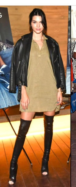 0c67717df111 shoes kendall jenner kendall and kylie jenner over the knee boots leather  leather boots boots