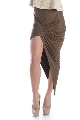 Asymmetrical Draped Skirt - Norka