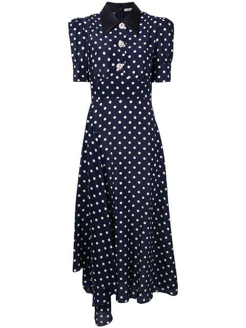 Alessandra Rich Polka Dot Dress - Farfetch