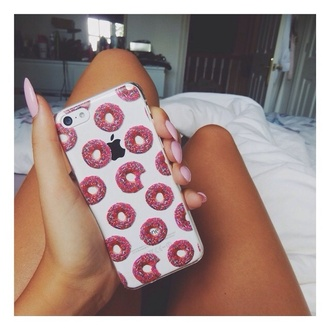 phone case iphone 5 case donut pink white