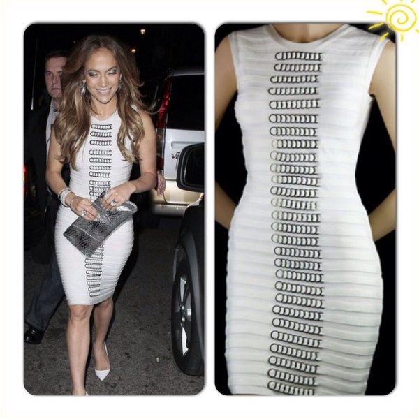 dress white bandage dress