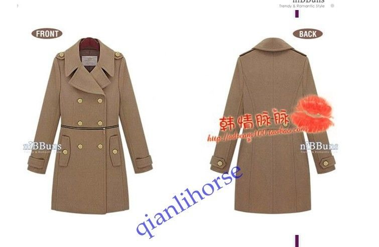 FREE HOT NEW WINTER WOMEN FASHION SHOWES SLIM THICK WOOL DUST COAT | eBay