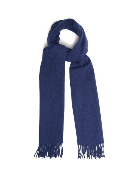 Acne Studios scarf wool blue