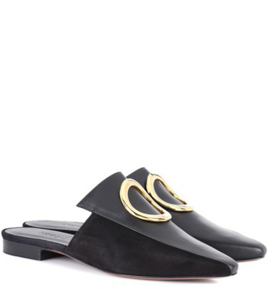Neous mules leather black shoes