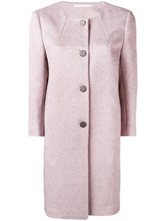 coat women spandex purple pink