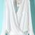 White Long Sleeve Front Cross Dipped Hem Blouse - Sheinside.com