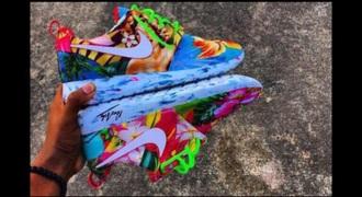 shoes colorful nike roshe run