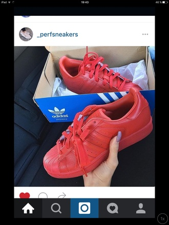 shoes adidas red superstar adidas supercolor sneakers