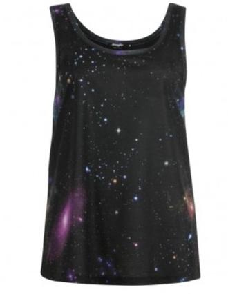 shirt tee-shirt galaxy print