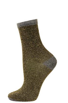 Heel and Toe Glitter Ankle Socks- Topshop