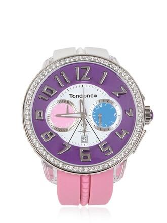 watch white purple jewels