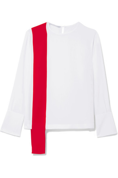 Stella McCartney top draped white silk