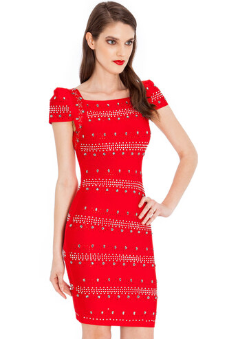 dress goddiva bodycon red embellished flattering mini cap sleeve summer outfits