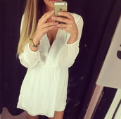 dress,white,luxury,cute,blond hair,girl,perfecto,perfect dress,follow me babies,love that dress