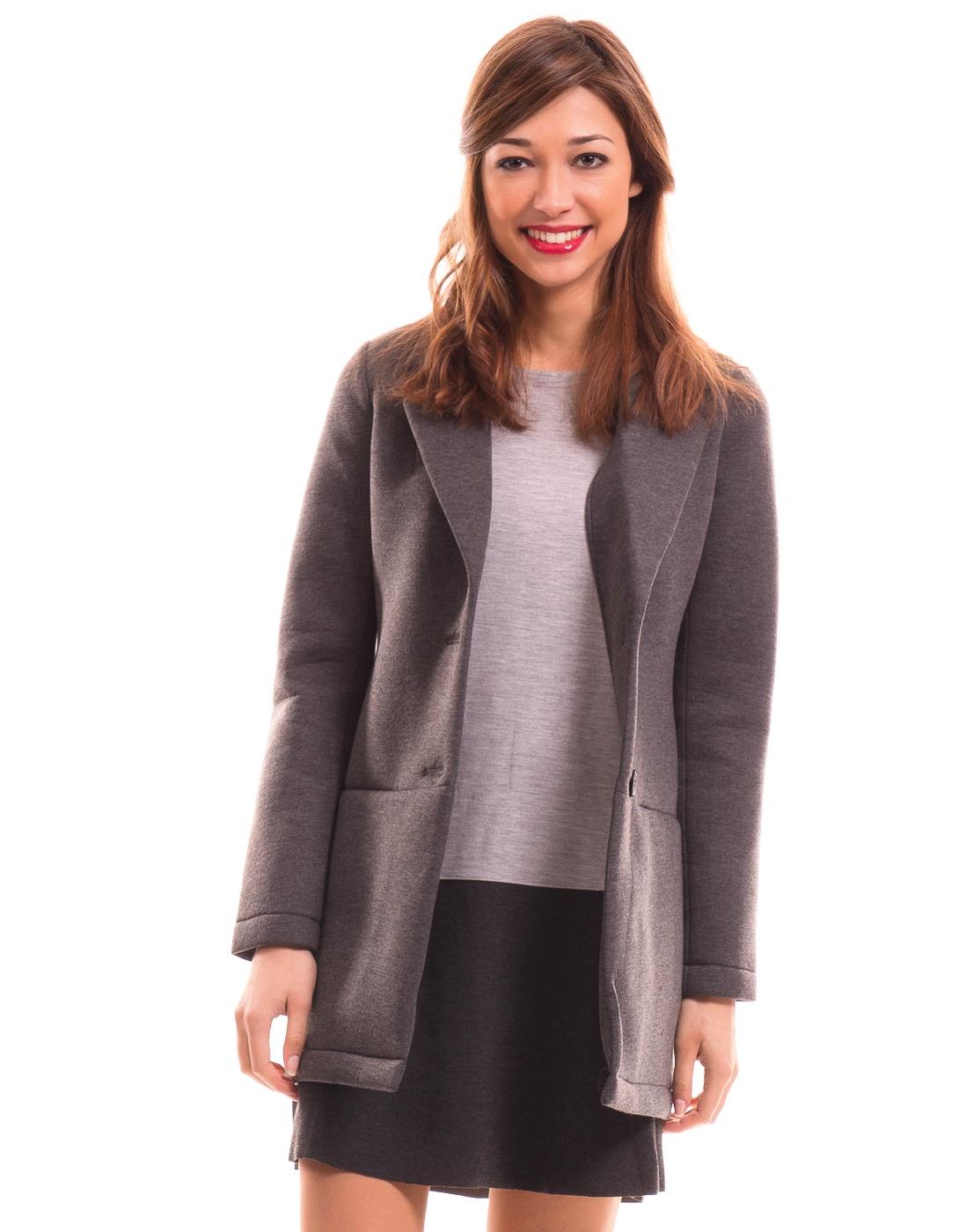Abrigo neopreno gris de vila clothes