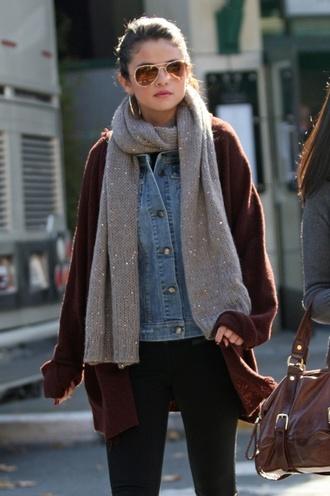 cardigan selena gomez selena gomez burgundy knitted cardigan blouse