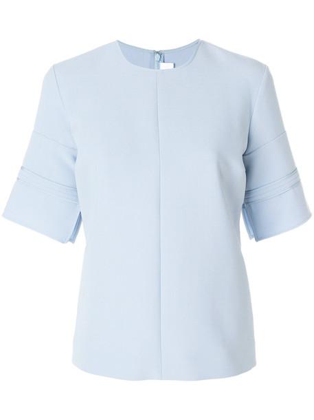 Victoria Victoria Beckham t-shirt shirt t-shirt women spandex blue silk wool top