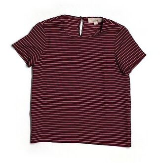 t-shirt red lines line