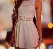 dress,white,pattern,cute