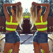 top,crop tops,neon yellow cut out top,sex kitten couture,neon,neon yellow,neon yellow crop top,cut out top,cut out tops,summer,summer outfits,sexy,sexy top,backless