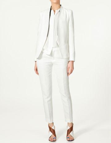 Blazer revers vestes collection femme zara france for Lesbian wedding dresses and suits