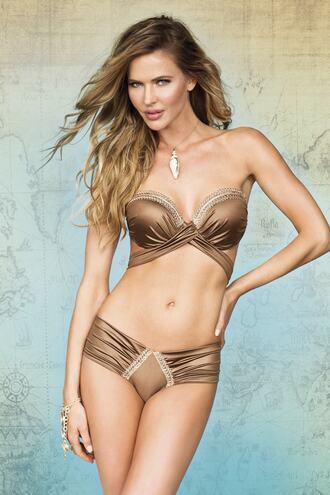 swimwear bandeau bikini bronzer bikiniluxe