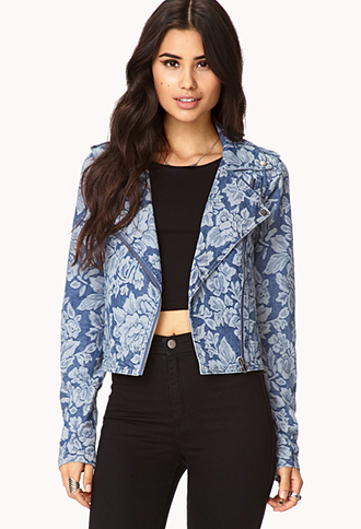 Botanical Babe Denim Jacket | FOREVER 21 - 2073491968