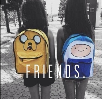 bag adventure time adventure time bag jake the dog finn the human school bag fashion