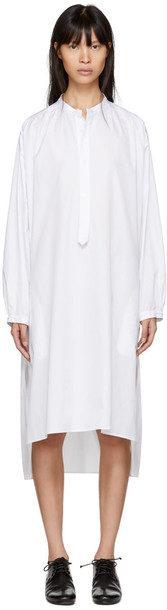 Ys dress shirt dress long white
