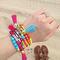 Rainbow tassel bracelet set, beaded bracelet set, multi strand, beach jewelry, personalized name bracelet, layering bracelet