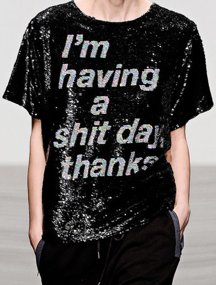 model shirt black diy clothes glitter sparkles