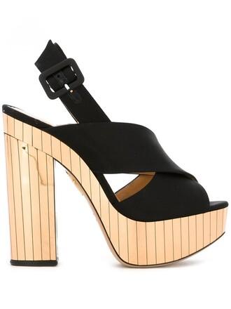 metal women sandals leather black satin shoes
