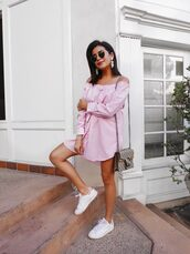 shoes,sneakers,adidas,dress,stan smith,off the shoulder,crossbody bag,gucci,blogger,blogger style