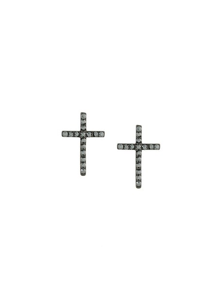 FEDERICA TOSI cross women earrings black jewels