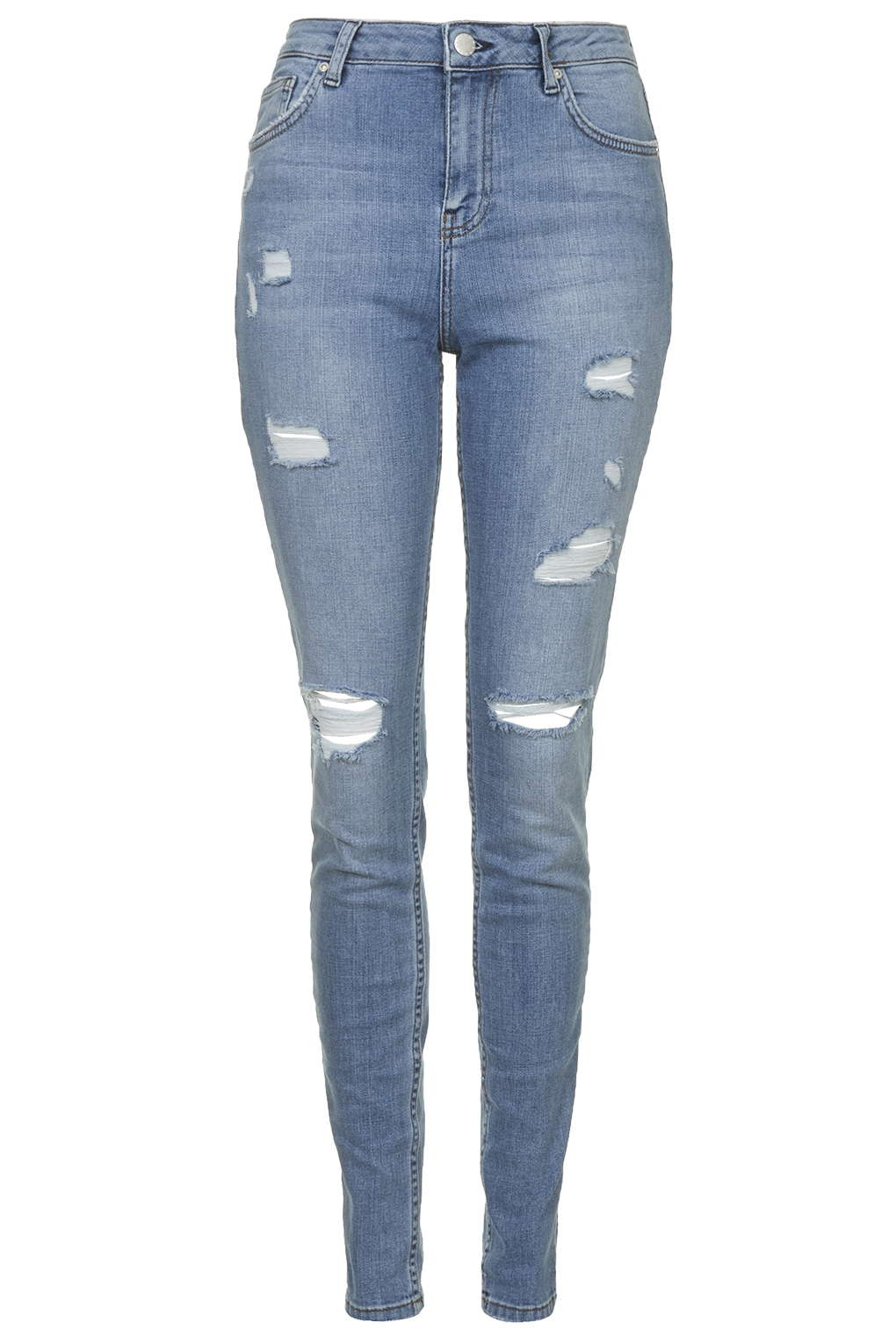 MOTO Bleach Authentic Ripped Skinny Jeans