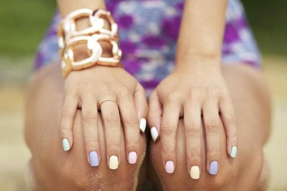 mat nail polish pastel