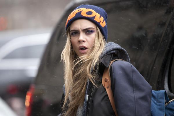 hat beanie fashion stylish cara delevingne jacket backpack model streetstyle