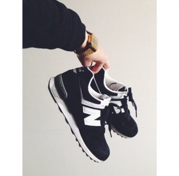 shoes new balance sportswear black and white nb noir hipster